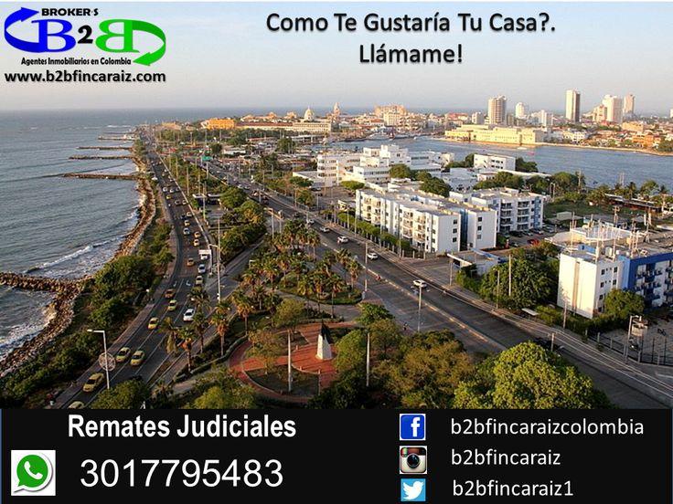 Nos Gustaría Saber Cómo Quieres Tu Casa, Conocer Tu Gusto. Remates Judiciales en Cartagena B2B Finca Raíz, Agentes Inmobiliarios en Colombia. Casas, Apartamentos, Locales Comerciales. www.b2bfincaraiz.com Cel: 3017795483. Estamos Para Servirte #FincaRaizCartagena