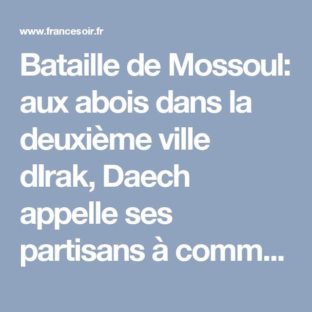 Bataille de Mossoul: aux abois dans la deuxième ville dIrak, Daech appelle ses partisans à commettre des attentats en Occident | FranceSoir