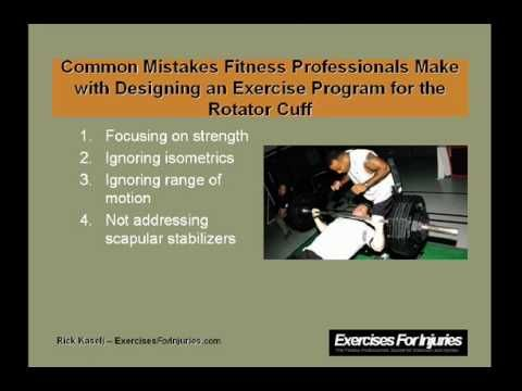 Effective Rotator Cuff Exercise Program- This would be great for my sports injuries project