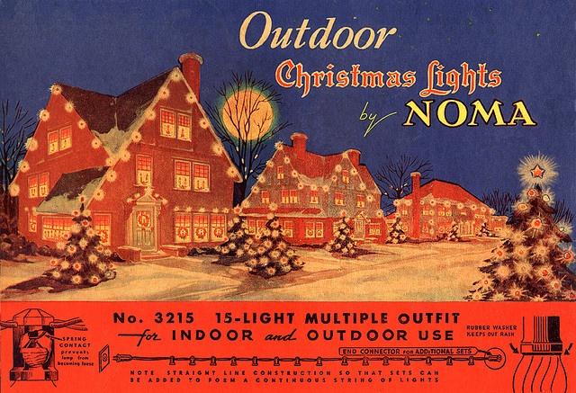 Vintage Outdoor Christmas Lights Box