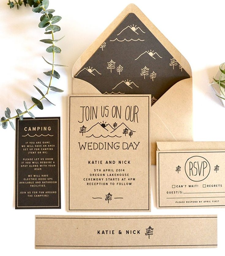 funny wedding invitation rsvp goes viral%0A cool    Beautiful and Romantic Forest Wedding Invitations Ideas  http   lovellywedding com