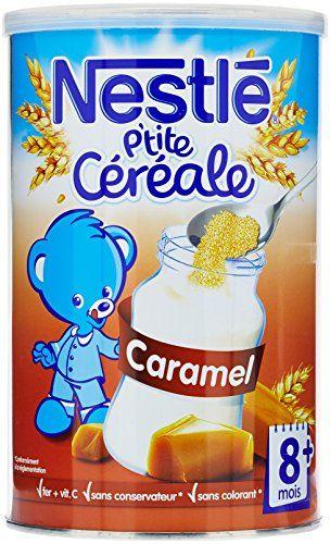 Nestlé Bébé P'tite Céréale Caramel dès 8 mois 400g – Lot de 4: NESTLE P'tite céréale est un bon moyen pour bébé de:- VARIER le goût du Lait…