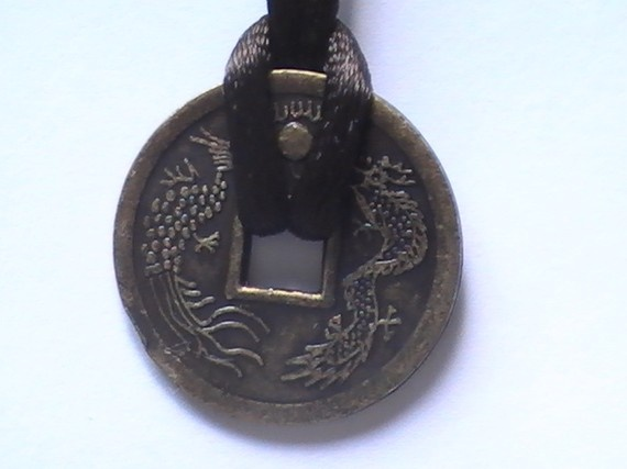 Brass Antique Look Chinese Coin Good Luck by dragonflyridge, $14.99