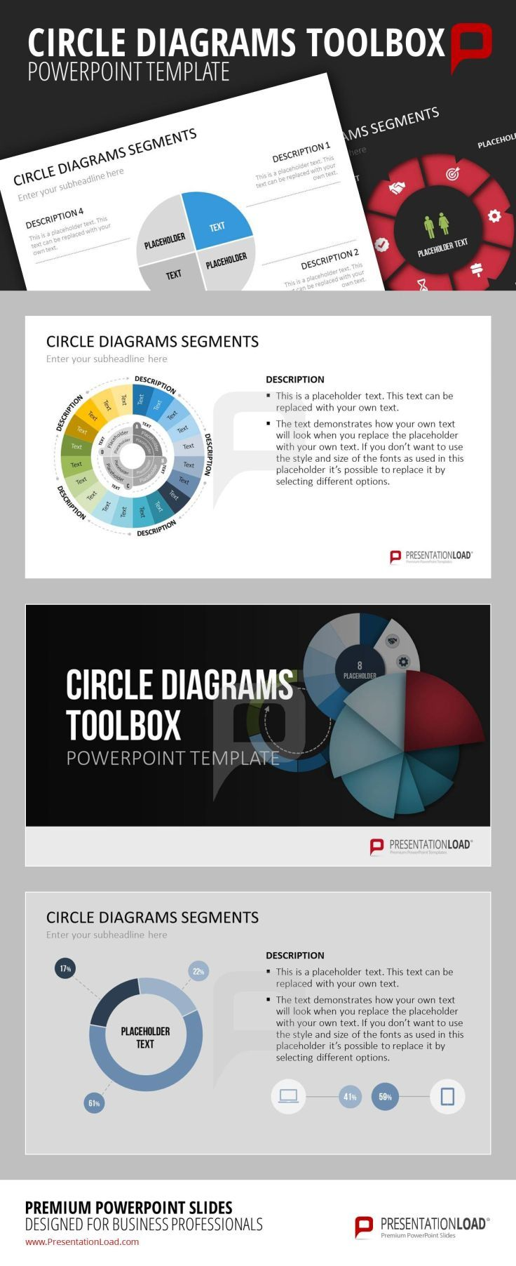 Circle diagram toolbox this diagram toolbox for powerpoint comes circle diagram toolbox this diagram toolbox for powerpoint comes with circle ring and radial diagrams in different variants and display formats ccuart Gallery
