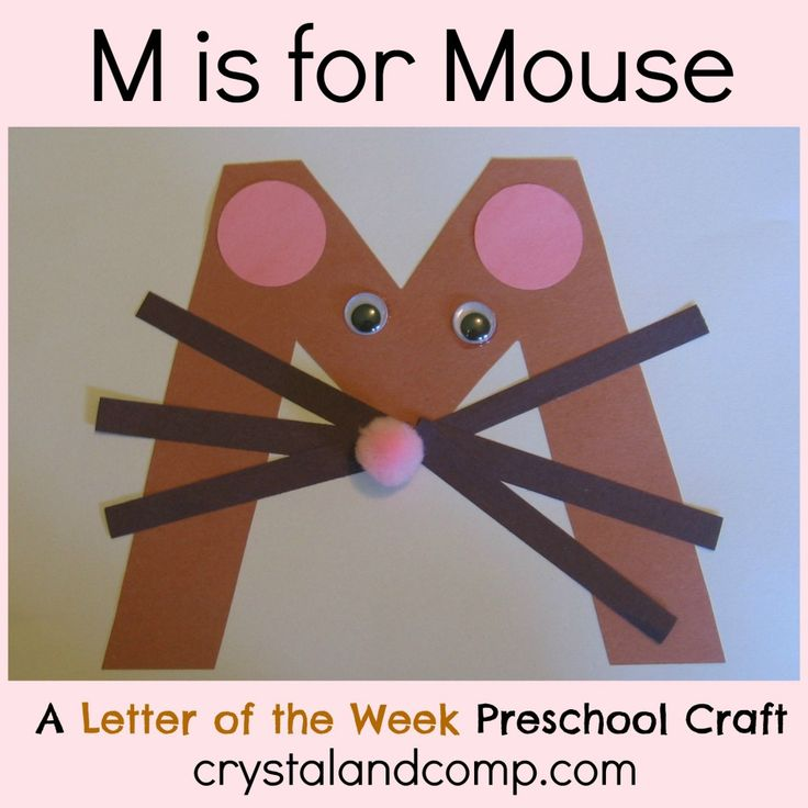 letter of the week alphabet...M is for Mouse. Would be so fun to do with your kids once a week as learning and craft time.