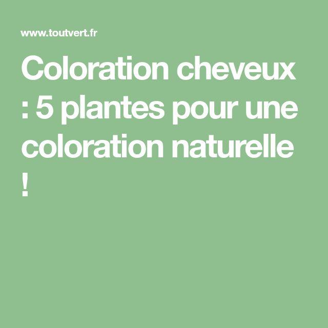 Coloration cheveux : 5 plantes pour une coloration naturelle !