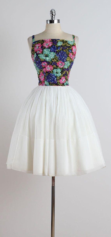 Sparkle Sprinkle . vintage 1950s dress . by millstreetvintage