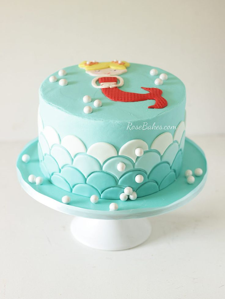 how to make a little mermaid cake