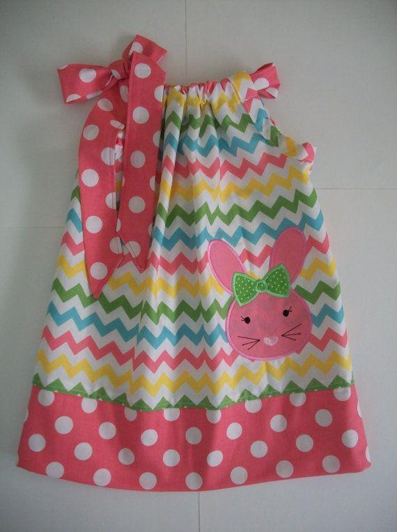 Easter bunny pillowcase dress chevronSize 3 by amaritascloset & 116 best Pillowcase dresses images on Pinterest | Girls dresses ... pillowsntoast.com
