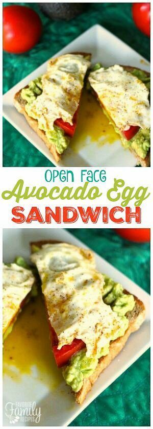 This Avocado Egg Sandwich with tomato is a high protein, healthy breakfast. A savory breakfast that will keep your energy up until lunch! via @favfamilyrecipz