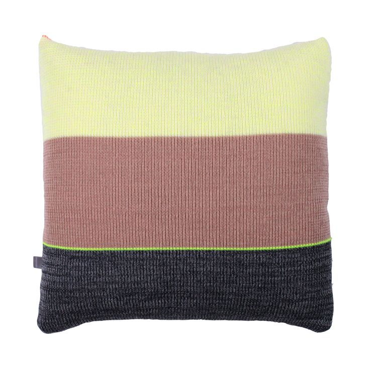 Strictly Knit Cushion 2-002-008  Product materials: 95 % wool / 3 % viscose / 2% pl. Dimensions: 45x45 cm (18x18 inch).  Care: Clean or hand wash at 30c degrees (86f).
