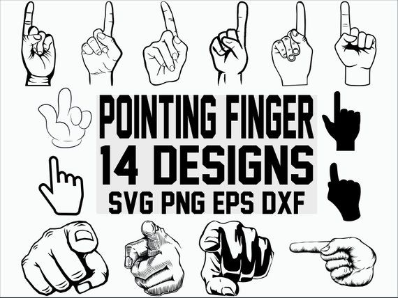 Pointing Finger SVG/ Pointing Finger Clipart/ Cut Files