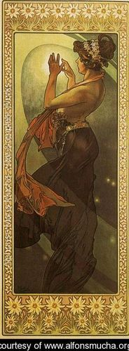 Pole Star. From The Moon and the Stars Series. 1902    Alphonse Maria Mucha
