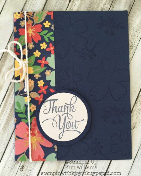 """A Special """"Love and Affection"""" Thank You Card - Stampin With Kjoyink"""