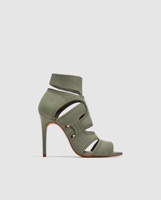 new style df5af 461a8 Image 2 de SANDALES EN TISSU ENVELOPPANTES de Zara