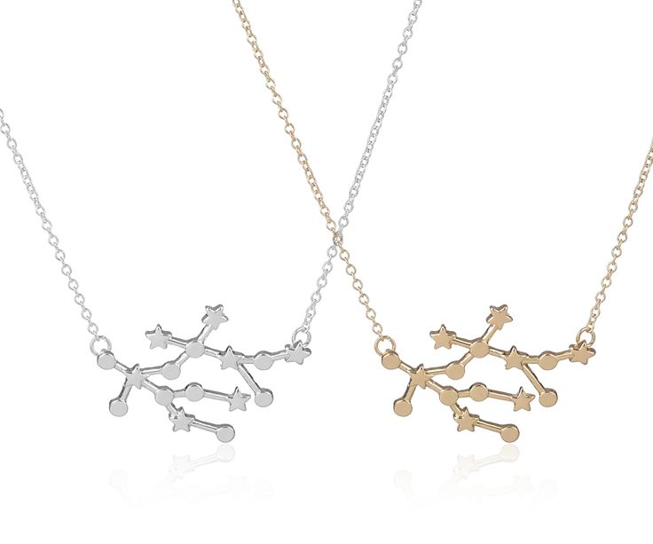 2017 New Trendy Gemini Zodiac Signs Astrology Necklace Constellation Pendant Necklaces for Women Star Sign Party Necklace -N166