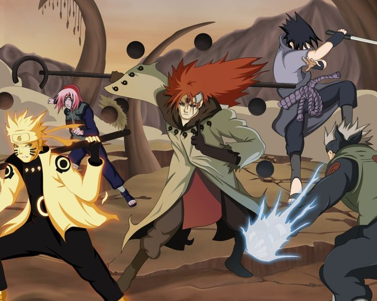 Download wallpaper naruto shippuden, by melonciutus, 4th ninja war, 4th shinobi war, anime resolution 1280x1024