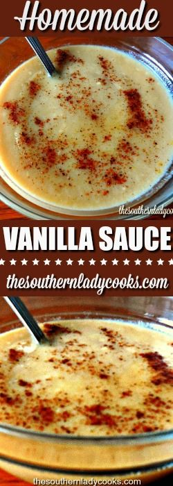 Vanilla sauce is an easy homemade recipe that is delicious over bread puddings, rice puddings, ice cream, waffles, cakes and many other desserts.