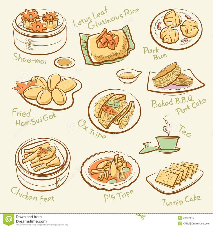 Set-chinese-food-line-drawing-cantonese-cuisine-guangdong