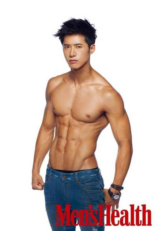 asian handsome muscles boy