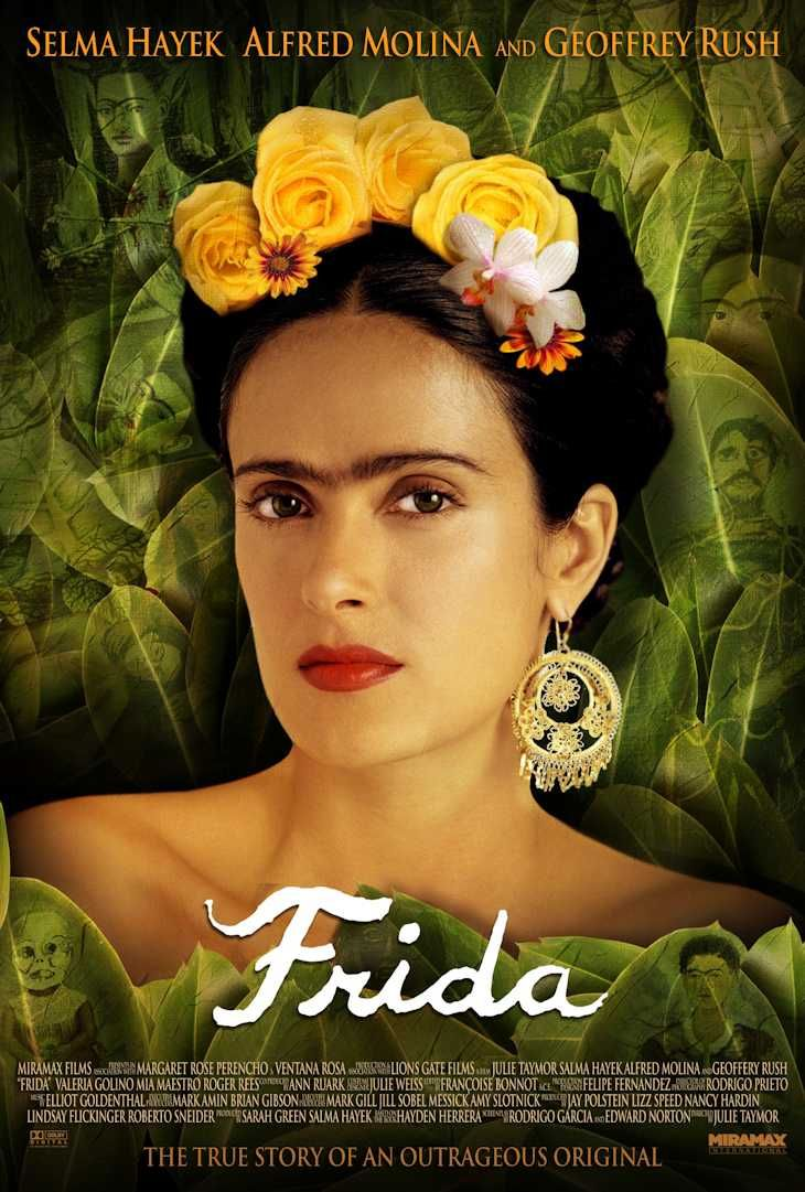 Movies You Must See Great Artists At The Cinema Frida Pelicula Frida Kahlo Frida