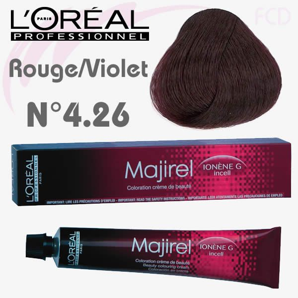 Majirel Rouge-Violet 4.26-Châtain irisé rouge
