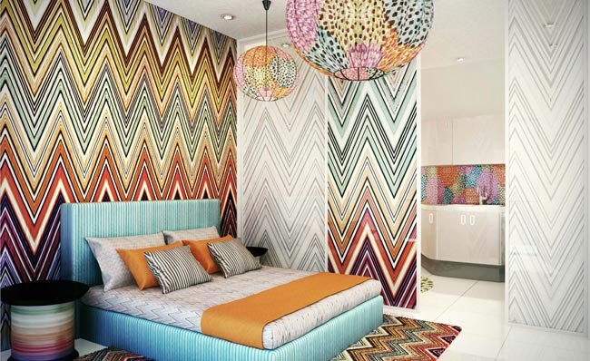 Decor Daydream: A Missoni-Designed Apartment or Fun Teenager Room