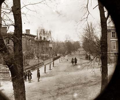 Petersburg, Virginia. Street.  It was made in 1865