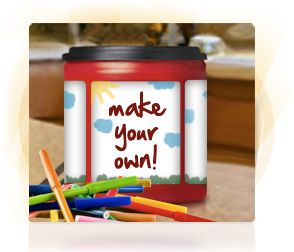 Decorate folgers coffee canister