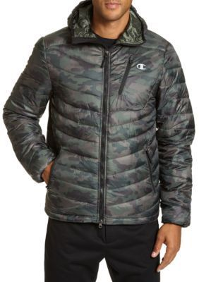 Champion Camo Print Water Resistant Featherweight Insulated PACKABLE Jacket