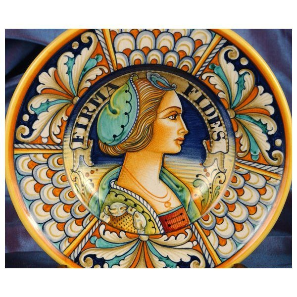 """Romeo and I would like to extend to you a special price on two designs of these beautiful re-edition renaissance plates!   The plates measure a generous 12"""" diameter, hand-painted in bright, beautiful colors - $249.00 USD each plus FREE SHIPPING!     And to sweeten the offer, take twenty-five dollars OFF each additional plate after the first plus the offer of free shipping still applies!   (Plates must be purchased at the same time and shipped to the same address)."""