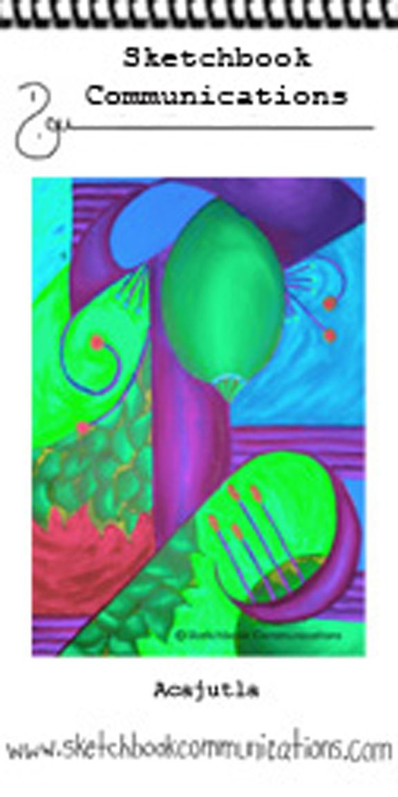 Hello, We're right here in Acajutla, El Salvador, in this picture. This is a picture of a painting for a booklet of 20 pictures of abstract flowers from El Salvador. You are welcome to look at the  ebook sample at the link in this pin.