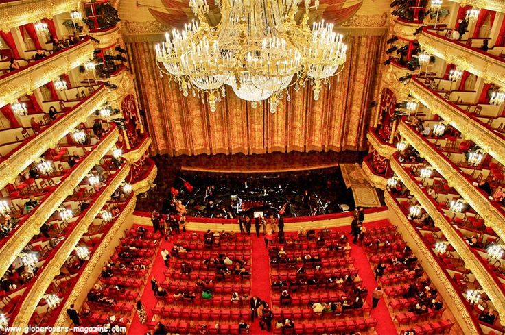 Bolshoi Theatre, Moscow, Russia Would love to see The Nutcracker or Swan Lake here