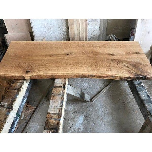 Baumscheibe, Waschtisch, Tischplatte, Eiche, Baumkante 60x35x4,5cm geölt