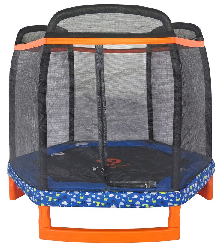"88.5"" Hexagon Indoor/Outdoor Trampoline with Safety Enclosure"
