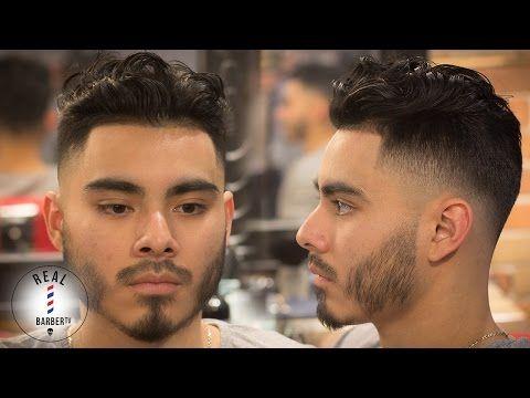 Men's Haircut | Curly Hair Drop Fade | Skin Fade Haircut - YouTube