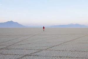 Black Rock Desert Nevada USA man flat playa salt pan Black Rock Desert Nevada