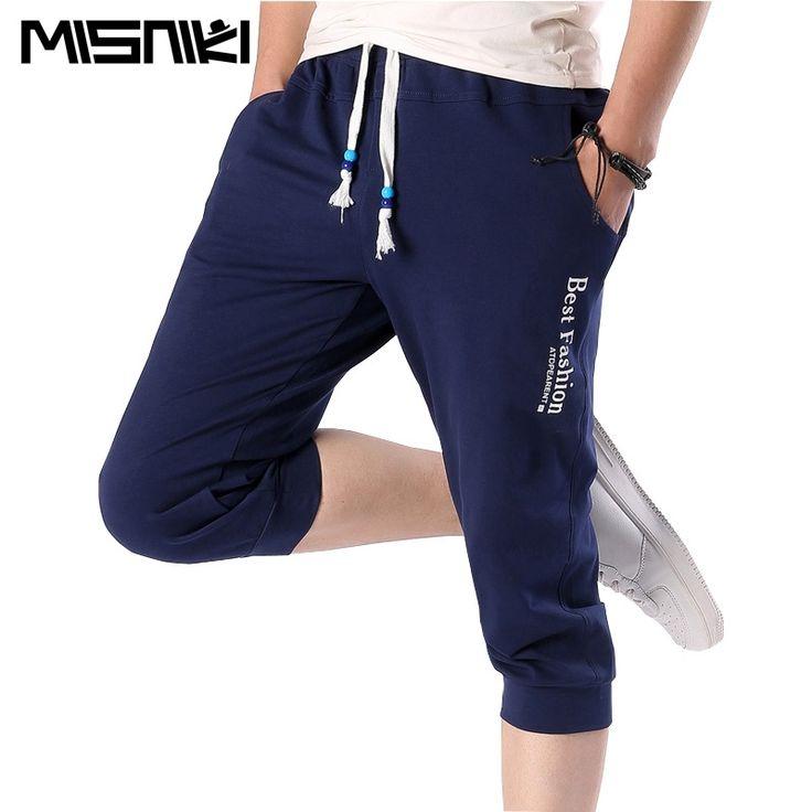 MISNIKI 2017 Summer Casual Slim Jogger Pants Men Casual Slim Calf-length Sweatpants For Men Youths Cotton Boys Pantalon