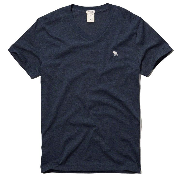 Abercrombie & Fitch Men's Muscle Fit V Neck Tee T Shirt Navy