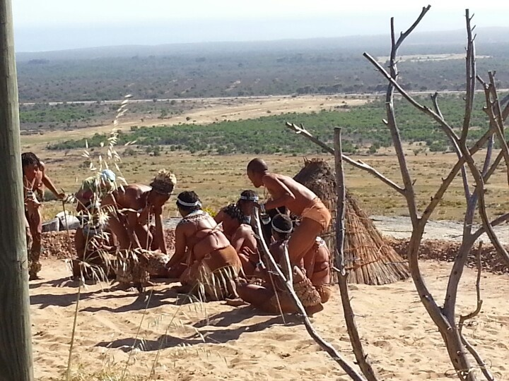 Khwa ttu dancers from Botswans