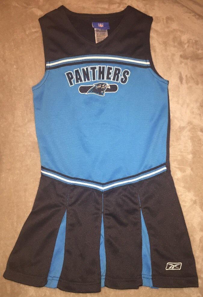 Carolina Panthers Girls Cheerleader Dress Costume Reebok NFL Size 10/12 Medium    eBay