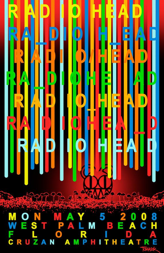 most colorful Radiohead poster you will ever, ever see.