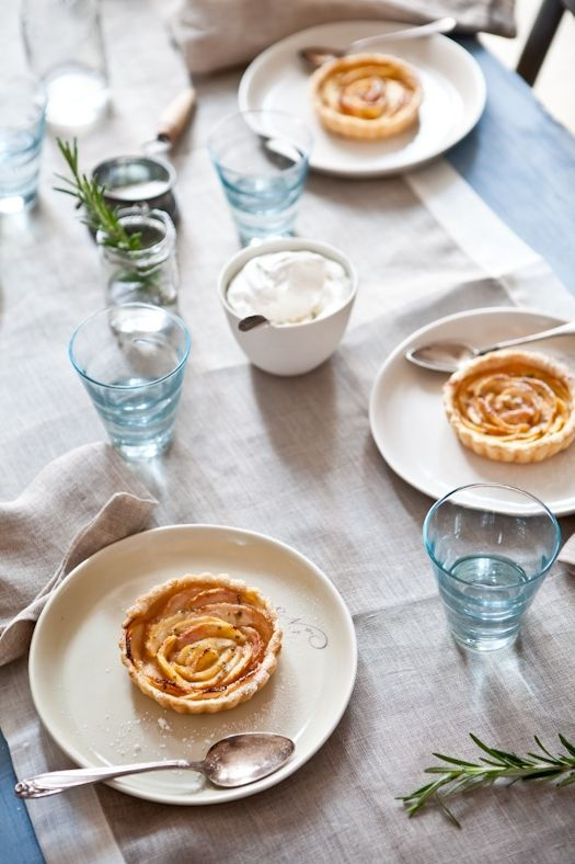 White Peach Tartelettes With Rosemary Sugar Recipe — Dishmaps