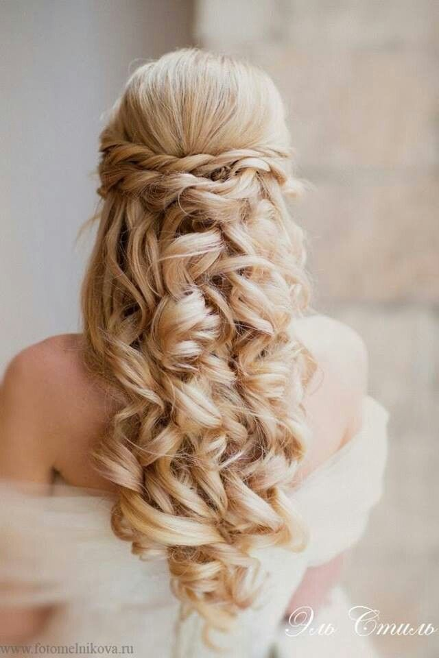 Curls are everywhere at the moment, and it's no different on the wedding scene.