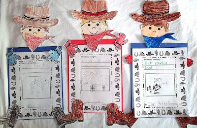 "Cowboy Craft and Glyph for ""Cowboy School Day"""