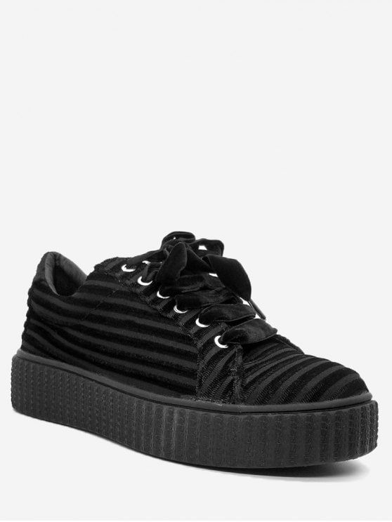 Shop for Lace Up Faux Suede Sneakers BLACK: Sneakers 37 at ZAFUL. Only $39.99 and free shipping!