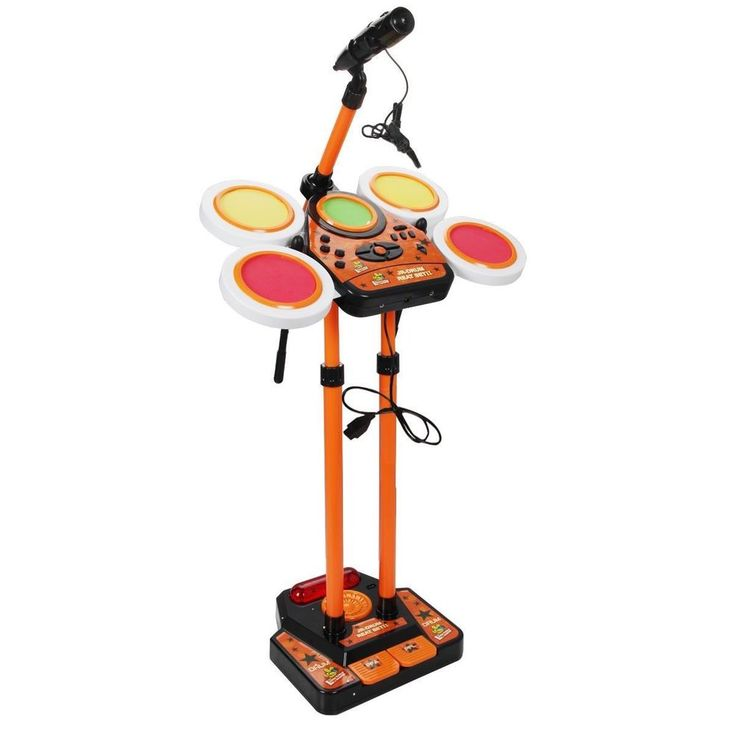 Kids Drum Set Musical Instrument Orange Children Music Playset Band Play Toy  #KidsDrumSet