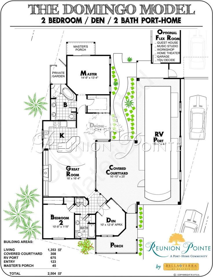 Rv garage with living quarters floor plans for Rv cottage plans