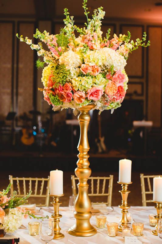 Gold Elephant Centerpiece : Best wedding floral arrangements images on pinterest