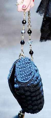 Dolce Gabbana Miss Charles Crochet Handbag....... I like the handle idea. Could use it on another bag that I like more.